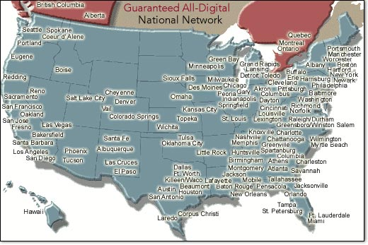 National Digital Network Map
